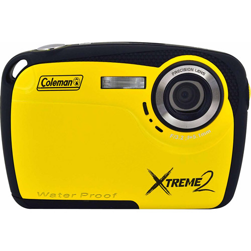Coleman Yellow Xtreme2 C12WP Waterproof Digital Camera with 16 Megapixels and 4x Digital Zoom