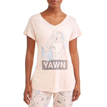 Disney Clearance Merchandise (Disney Women's and Women's Plus Snow White Sleepy Dwarf Pajama)