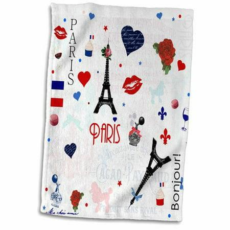Symple Stuff Bouknight Paris Hand Towel - Paris Stuff