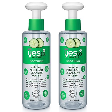 Soothing Cucumber - Yes To Cucumbers Soothing Calming Micellar Cleansing Water, 7.77 Oz (Pack of 2)