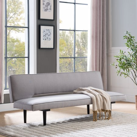 Harper Blvd Alconbury Mid-century Modern Grey/Black Convertible Sofa Bed