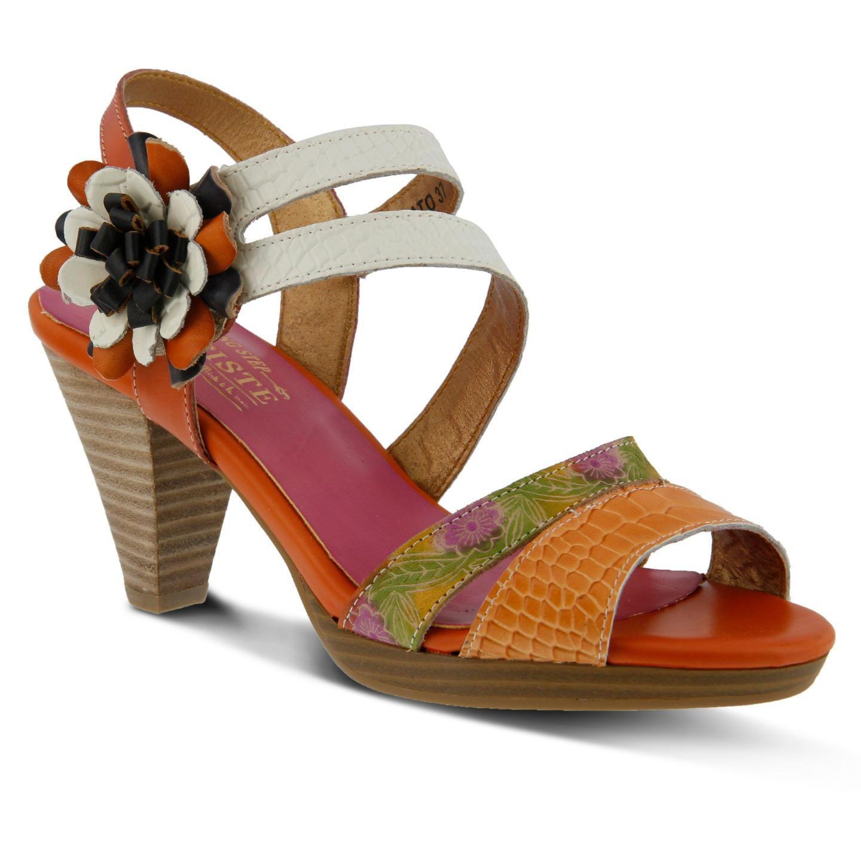 L'Artiste Plato By Spring Step Orange Leather Sandal 40 EU   9 US Women by Spring Step