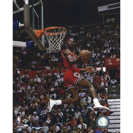 Michael Jordan 1987 Slam Dunk Contest Sports Photo