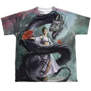 Anne Stokes - Dragon Dancer (Front/Back Print) - Youth Short Sleeve Shirt - X-Large