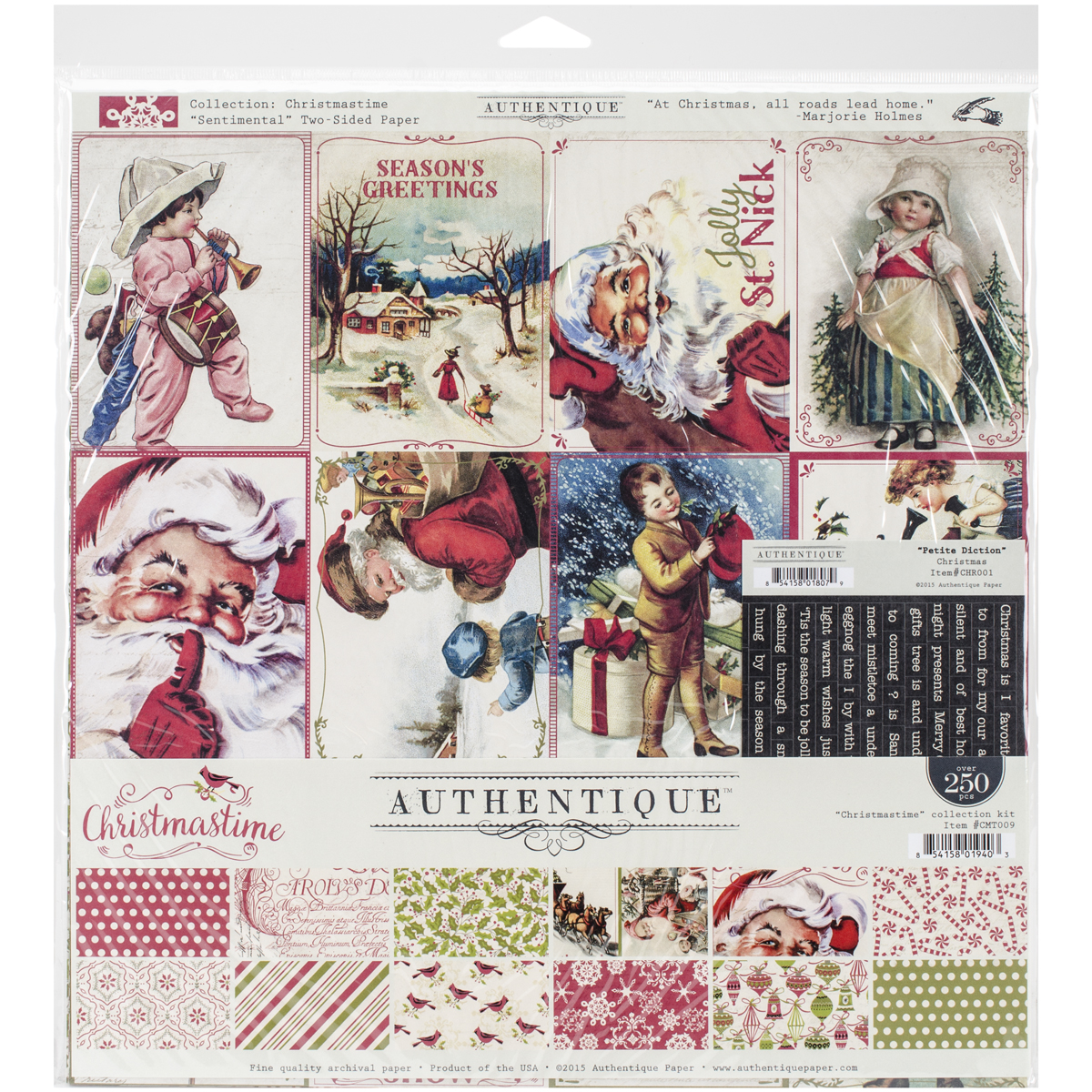 "Authentique Collection Kit 12""X12""-Christmastime"