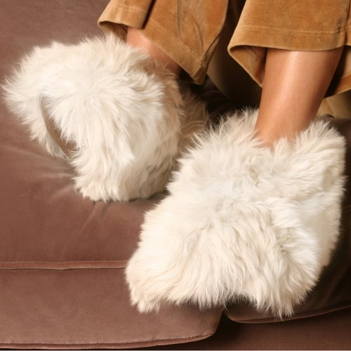 competitive price super quality high fashion Living Healthy Products - Deluxe Comfort Alpaca Slippers - Walmart.com
