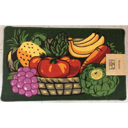 DANIELS VEGETABLE BASKET KITCHEN RUG WITH NON SKID (Cathy Daniels Pull)