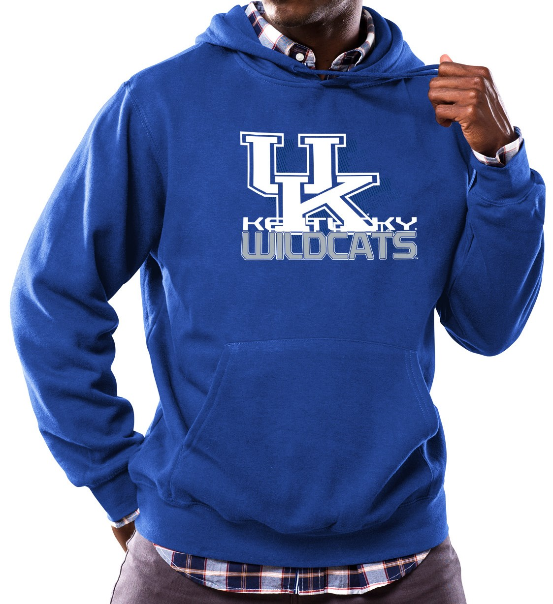 "Kentucky Wildcats NCAA Majestic ""Focused"" Men's Hooded Sweatshirt"