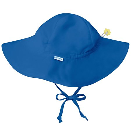 Iplay Brim Sun Hat for Baby Boys Sun Protection Wide Brimmed Hat- Solid Royal Blue-Newborn 0-6 Months Baby Boy Hat Is Adjustable To Fit Outdoor Hat With Chin Strap; Pool Beach Floppy Fisherman Swim
