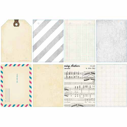 "Crate Paper Maggie Holmes Signature Mini Clipboard Album, 6"" x 9"", With 8 Cardstock Inserts"