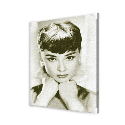 Pyramid America Audrey Hepburn Photographic Print on Wrapped Canvas