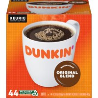 Dunkin' Original Blend K-Cup Pods for Keurig K-Cup Brewers, Medium Roast Coffee, 44-Count (Packaging May Vary)
