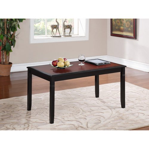 Camden Coffee Table, Black Cherry Finish, 18 inch Height - Walmart