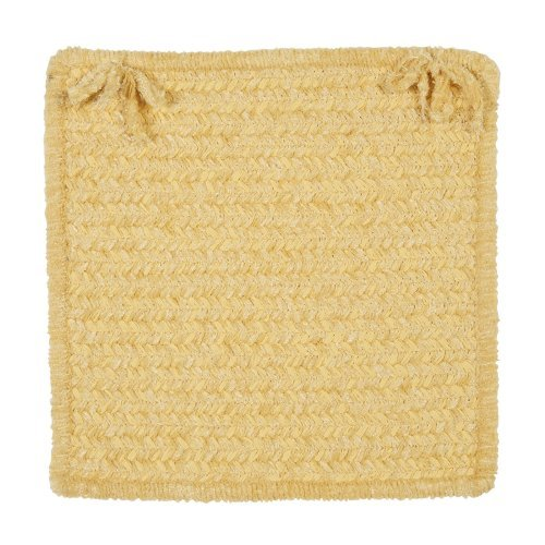 colonial mills simple chenille chair pad 15 x 15 in