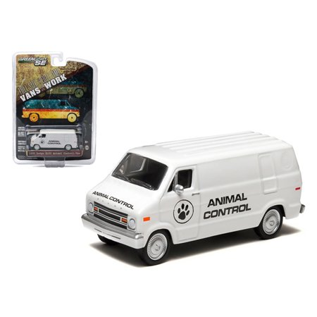 - 1976 Dodge B-100 Van Animal Control Hobby Exclusive 1/64 Diecast Car Model by Greenlight