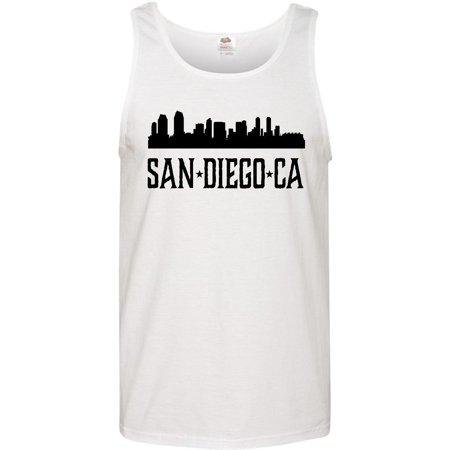 San Diego California City Skyline Men's Tank Top - Party City San Diego California