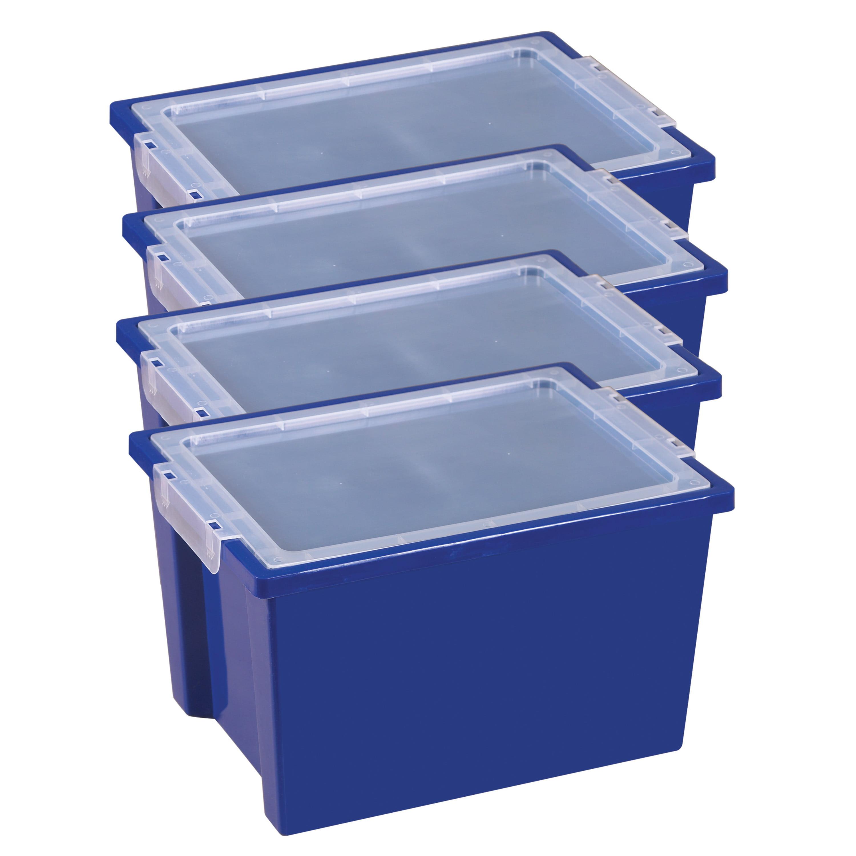 Large Storage Bins with Lid - Blue
