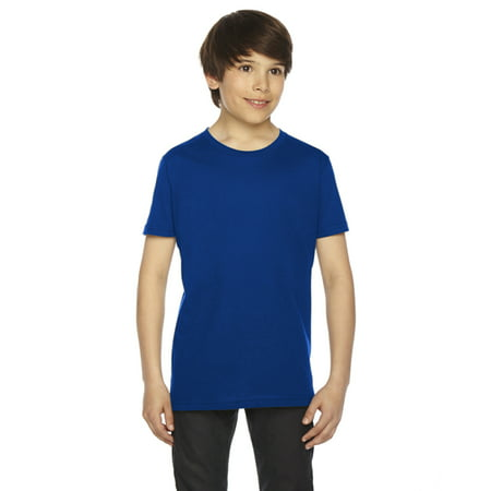 American Apparel Youth Fine Jersey Short-Sleeve T-Shirt-2201 (Orange Youth Jersey)