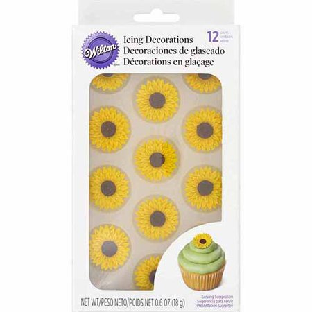 Wilton Royal Sunflower Icing Decorations