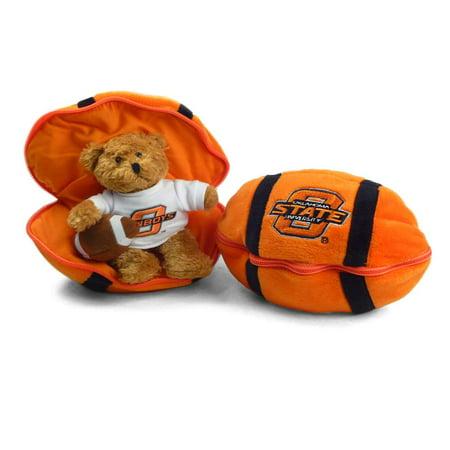 Oklahoma State Cowboys Stuffed Bear in a Ball - Football (Bear Balls)