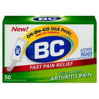 BC Aspirin Arthritis Formula Fast Pain Relief Powder, 50 Count