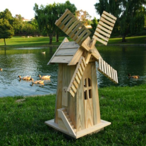 Decorative Windmill Barnwood by Shine Company Inc