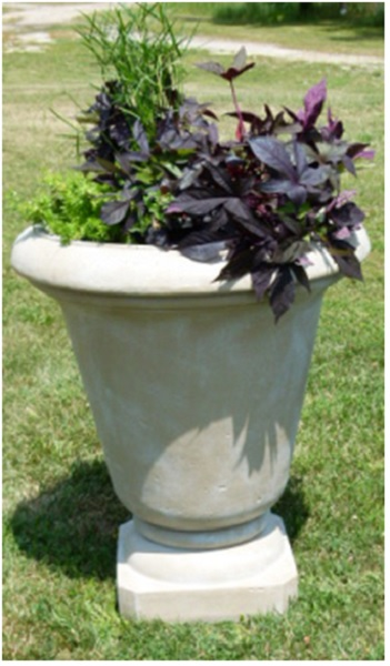 "Set of 2 Moss Finished Outdoor Patio Garden Genoa Urn Planters 30"" by CC Outdoor Living"