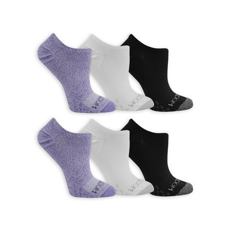 Fruit of the Loom Womens On Her Feet Polyester Flat Knit No Show Socks 6