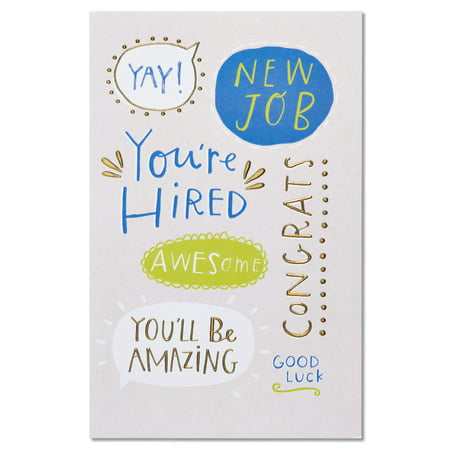 American greetings youre hired new job congratulations card with american greetings youre hired new job congratulations card with foil m4hsunfo