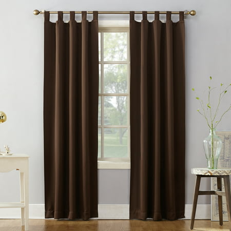 Sun Zero Brant Tab Top Blackout Window Panel Tab Top Window Curtain