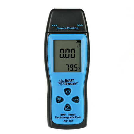 SMART SENSOR Handheld Mini Digital LCD EMF Tester Electromagnetic Field Radiation Detector Meter Dosimeter Tester (Best Emf Meters)