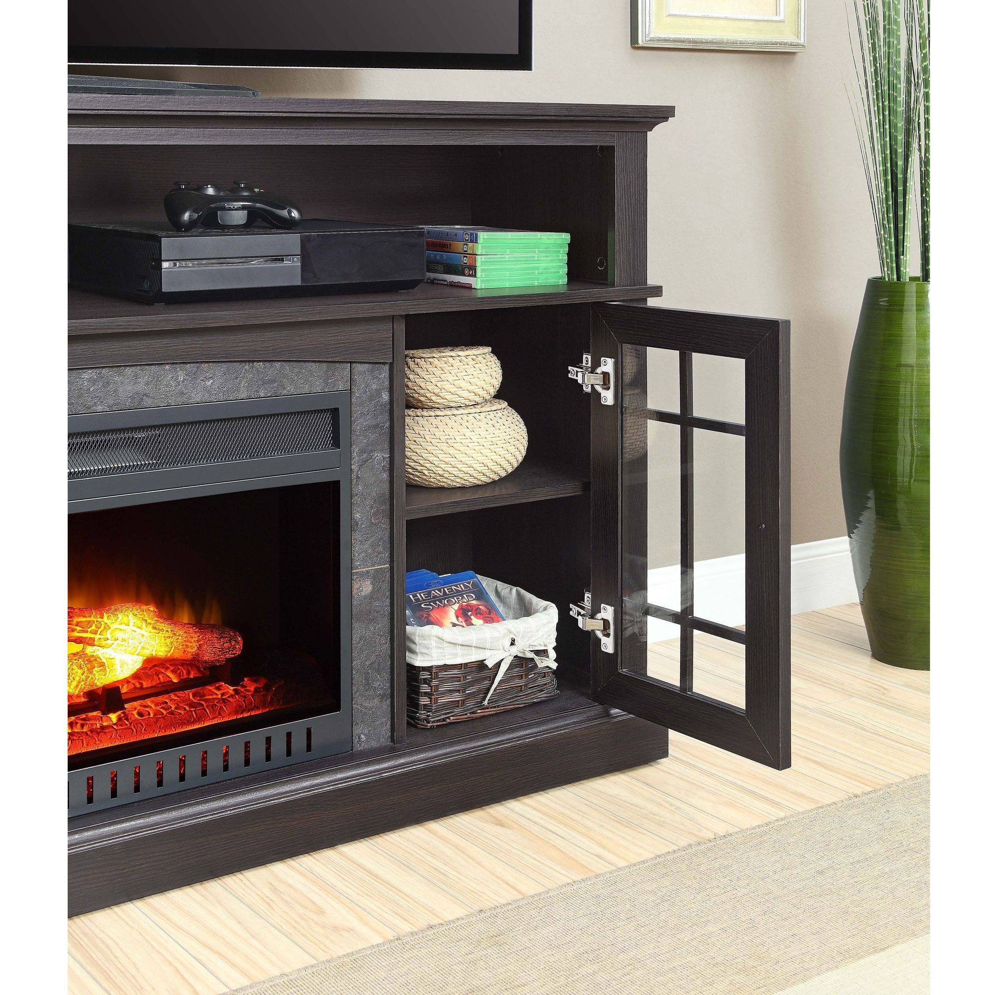 "Buy Better Homes and Gardens Mission Media Fireplace for TVs up to 65"" at Walmart.com"