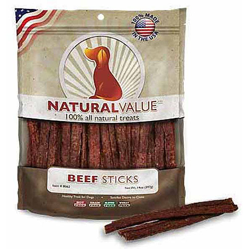 Loving Pets Natural Value Soft Chew Beef Sticks Dog Treats, 14 Ounces