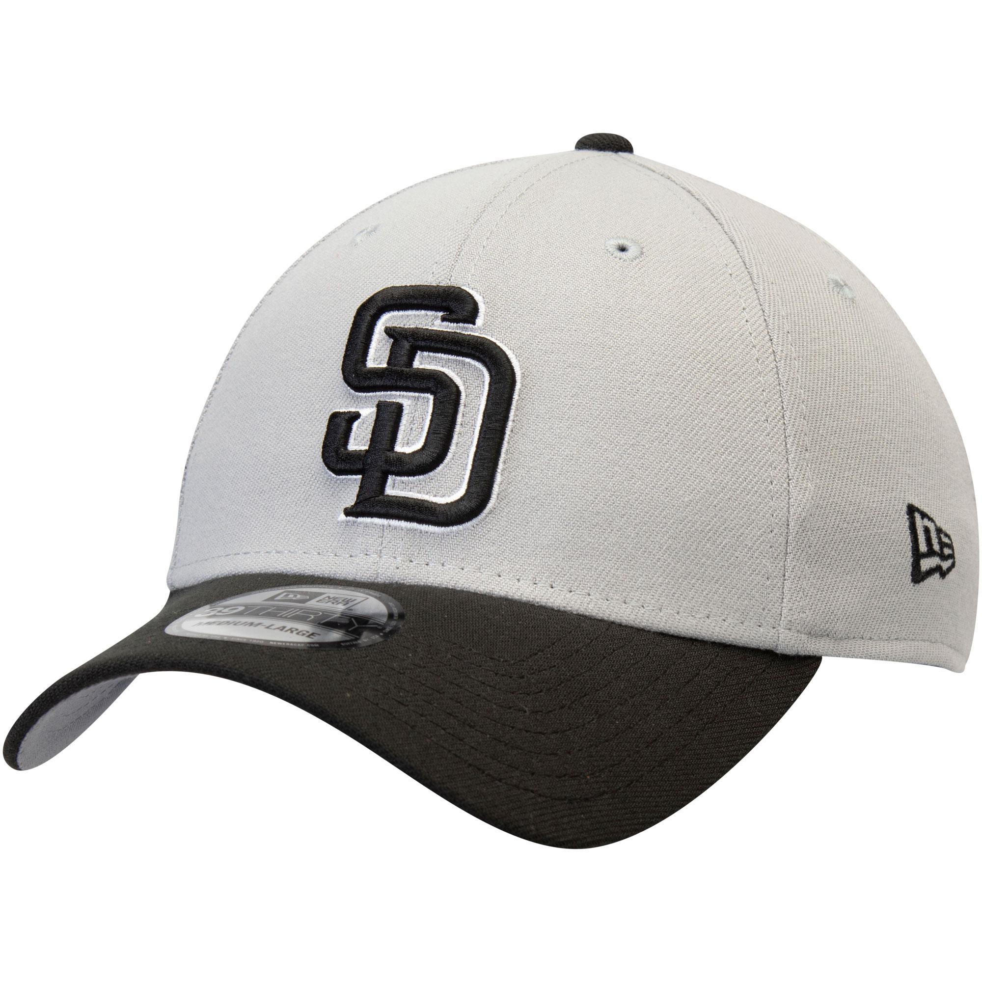 San Diego Padres New Era Team Classic 39THIRTY Flex Hat - Gray/Black