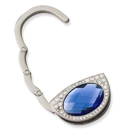 Icecarats Blue Crystal Purse Shape Handbag Hanger  Woman Hbag Tote Holder Wallet Travel