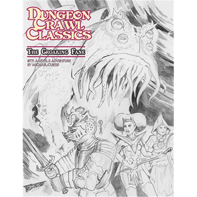 ACD Distribution GMG5078K Dungeon Crawl Classics - The Croaking Fane, Sketch Cover - image 1 of 1