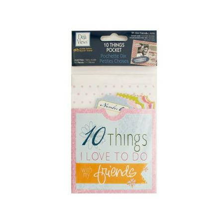 Bulk Buys CG590-24 10 Things Friends Journaling - Bulk Journals