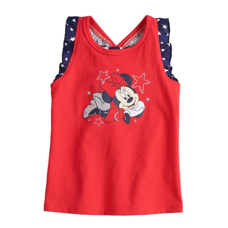 317baaf74 Disney's Minnie Mouse Baby Girl Patriotic Graphic Tank Top by Jumping Beans  - Walmart.com