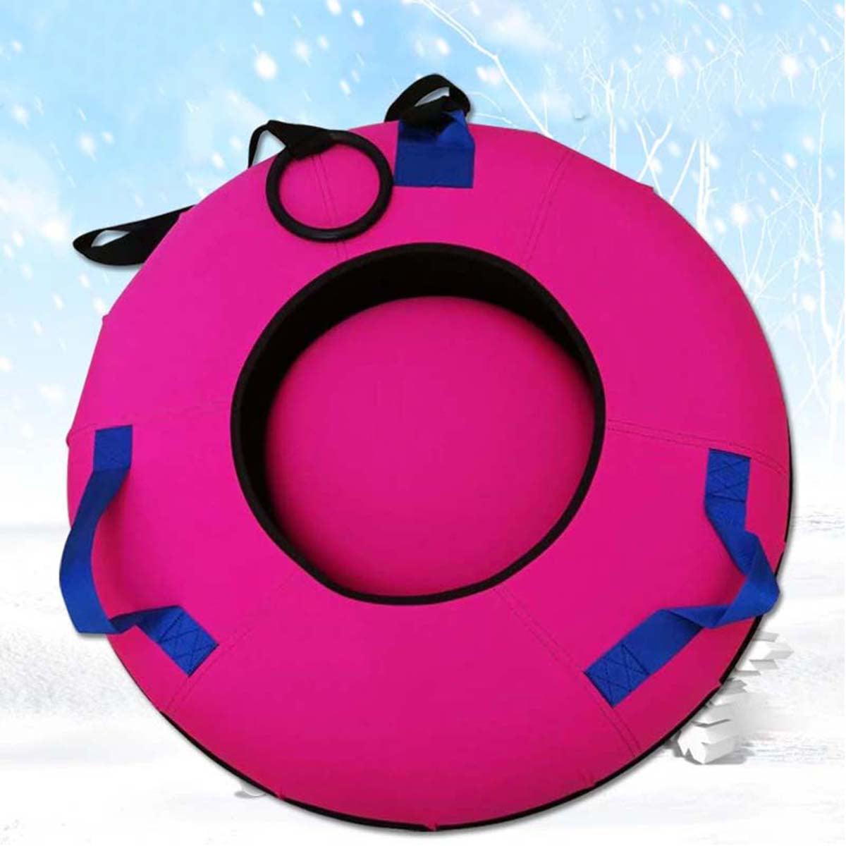 Heavy Duty Snow Tube Sled Huge Rubber Inner Sledding Colored Cover Inflatable Inner Diameter 100cm by