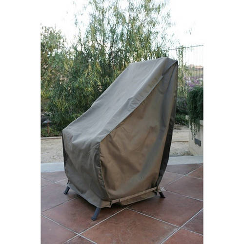 """Formosa Covers Patio Hi Back Chair Covers with Velcro up to 42"""" H"""