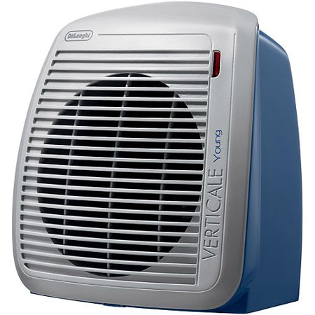 DeLonghi HVY1030BL Upright Personal Fan Heater in Blue with Gray Faceplate