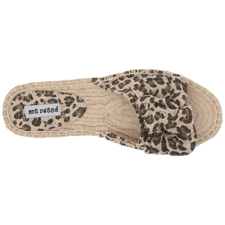 Not Rated Womens Erra Espadrille Slide Sandal (Leopard, 8)