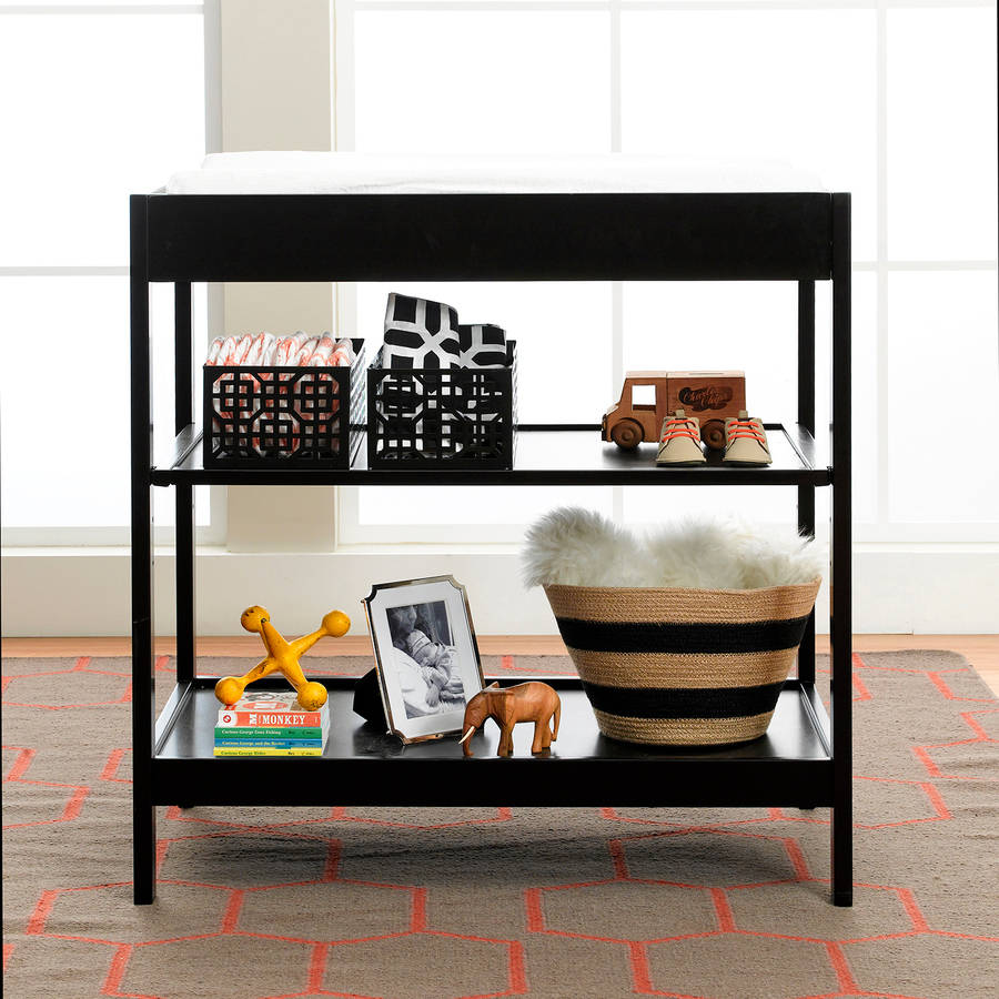 Urbini Changing Table, Oil Black