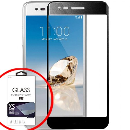 FATBOY TEMPERED GLASS SCREEN PROTECTOR FOR LG ARISTO 2 - BLACK FULL