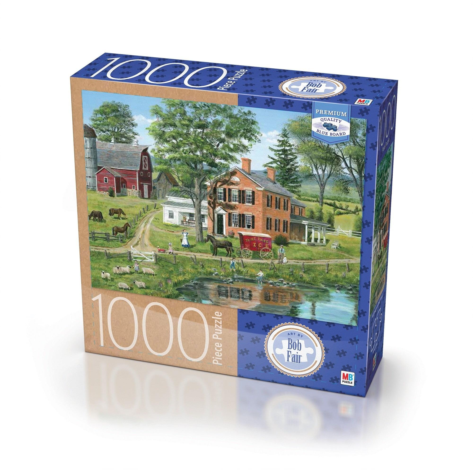 Milton Bradley Premium Blue Board Jigsaw Puzzle Bob Fair Ice Delivery: 1000 Pcs by Milton Bradley