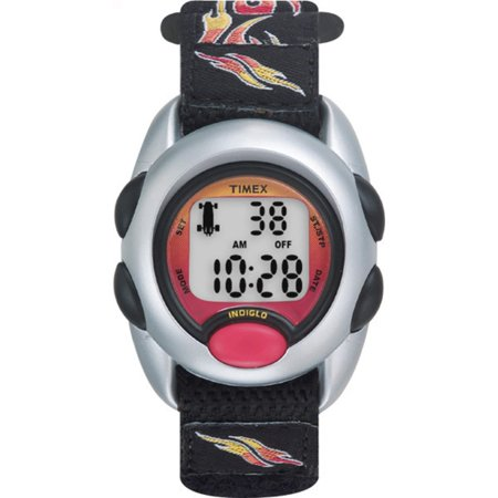 Boys Time Machines Flames Digital Watch, Fast Wrap Strap ()