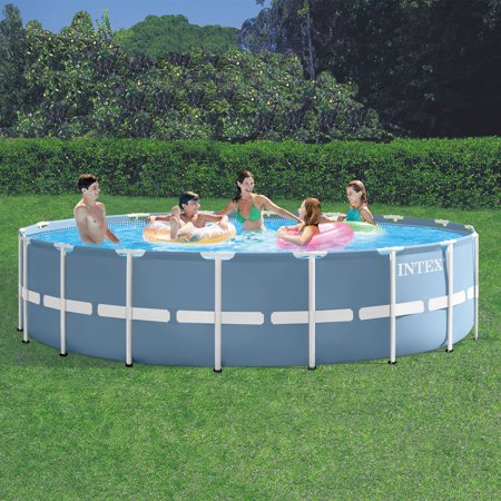 Intex 18 39 X 48 Prism Frame Above Ground Swimming Pool With Filter Pump Box 2 Of 2