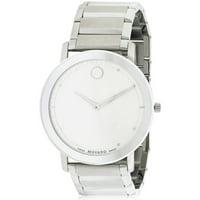 Movado Sapphire Silver Dial Steel Bracelet Mens Watch
