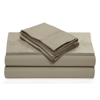 360 Thread Count Cotton Sateen Extra Deep Pocket Solid Sheet Set Queen Taupe