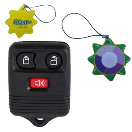 HQRP 3 Buttons Key Fob for Ford Explorer Sport Trac 2005 2004 05 04 Remote Case Shell + HQRP UV Chain / UV Health (Ford Meter Box)